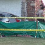 Los Angeles Sheriff's deputies investigate the shooting