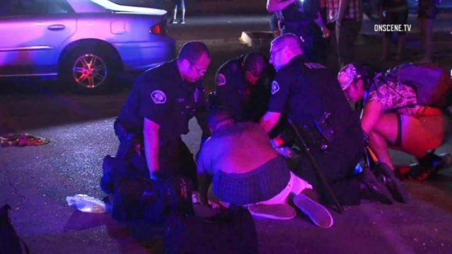 Police assist gunshot victim in Pomona