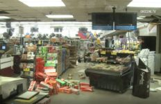 Damage at Albertsons store in Ridgecrest