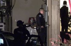 Santa Ana police outside home