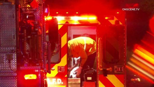 A paramedic wiith a victim