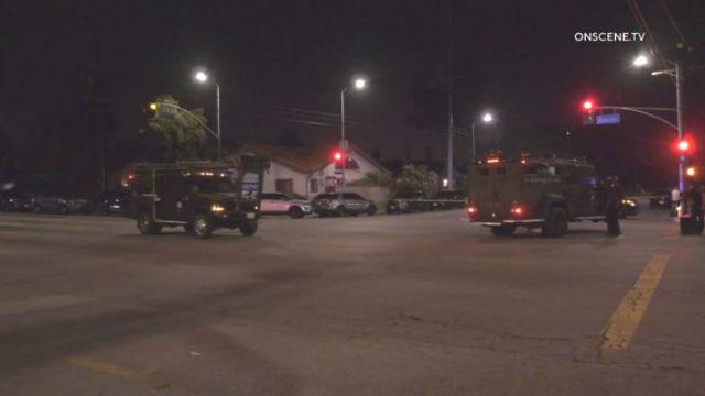 SWAT vehicles in Resida