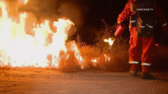 Flames from Juniper Flats fire