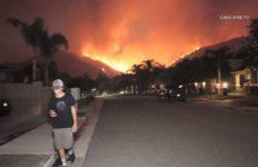 Flames from fire in Murrieta