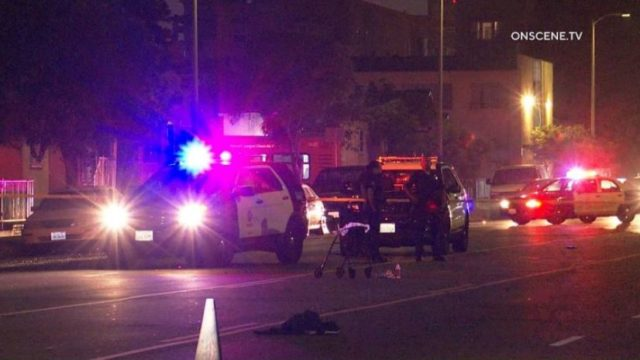Police at scene of hit-and-run accident