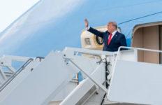 Trump departs Air Force One