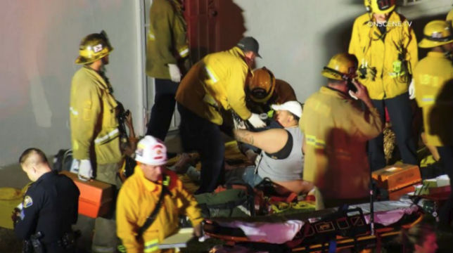 First responders assist the wounded