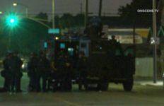 SWAT team at barricade