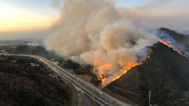 Getty Fire at its height