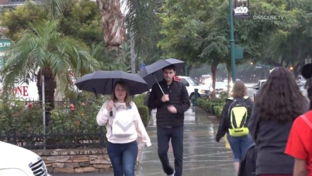 Rain in Anaheim