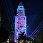 City Hall lit during New Year's celebration