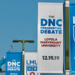 Debate signs at LMU