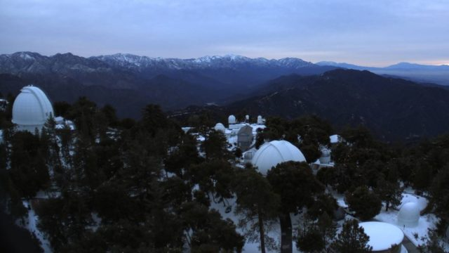 Snow on Mount Wilson