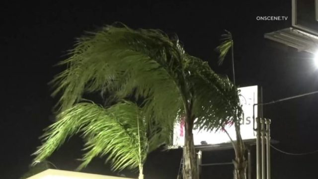 Windy conditions in Anaheim Hills