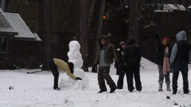 Snow in Big Bear