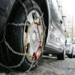 Tire chanis for travel in snow