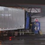 Big rig that crashed into liquor store
