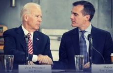 Joe Biden and Eric Garcetti