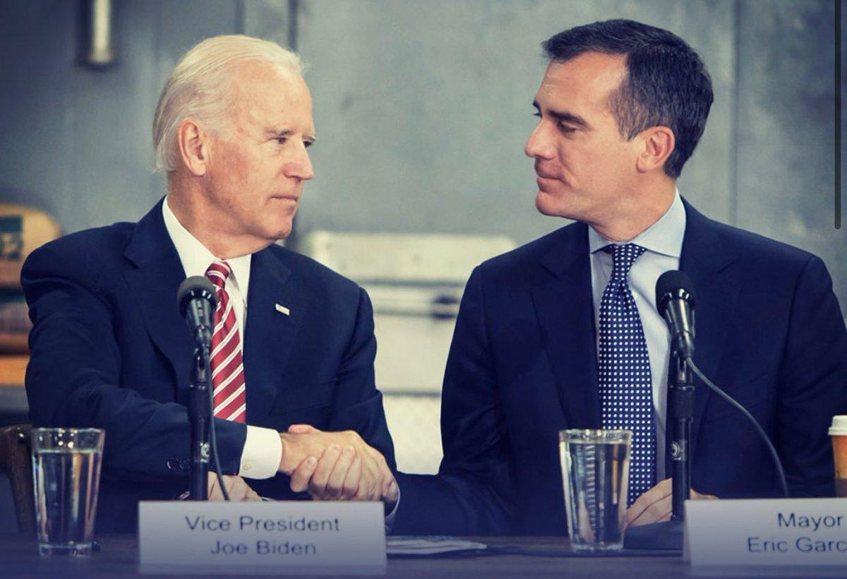 Joe Biden and Eric Garcetti