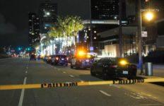 Police cruisers at scene of shootinig