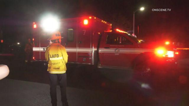 Ambulance at shooting