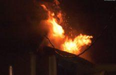 Burbank home burns