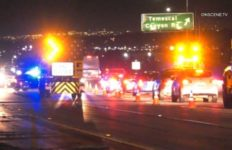 Emergency vehicles at accident scene