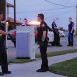 Police at crime scene in La Habra