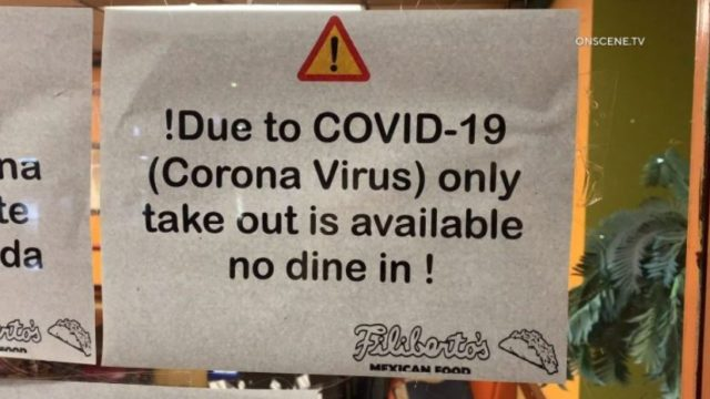 Restaurant closed by virus