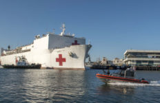 USNS Mercy in Los Angeles