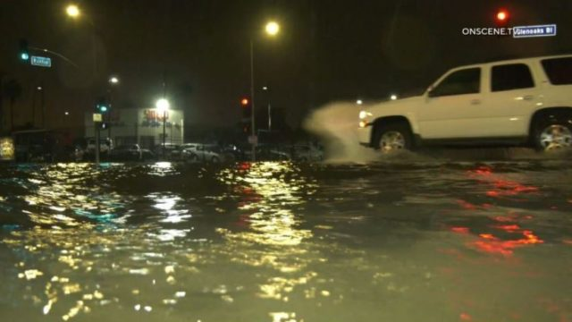 Flooding in the San Fernando Valley