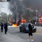 Rioting in Los Angeles