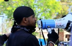 Peaceful protest in Santa Clarita