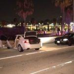 Suspect's car on freeway