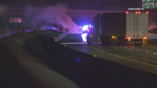 Fiery crash on 210 freeway in Pasadena