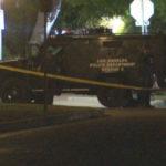 Police vehicle in Hancock Park