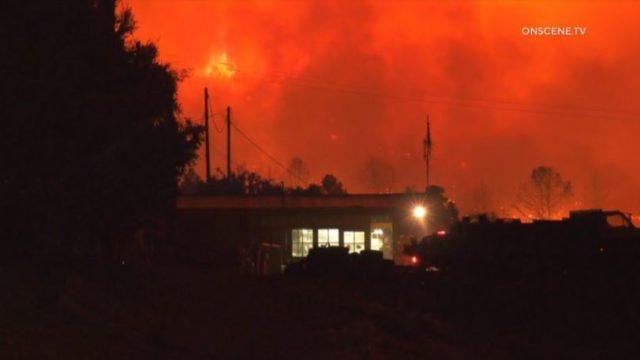 Flames from Bobcat Fire