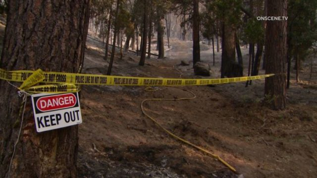 Trailhead where firefighter was killed