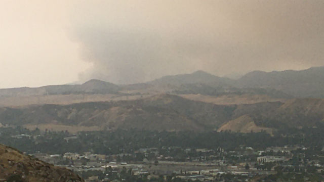 Smoke from El Dorado Fire