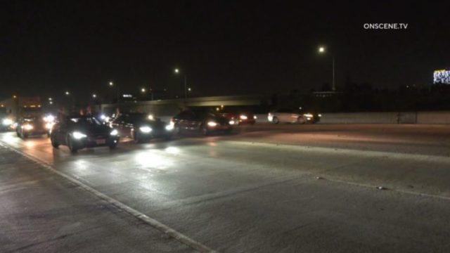 Protesters block freeway