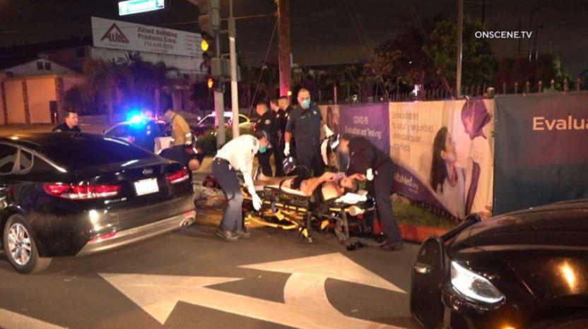 Paramedics assist stabbing victim