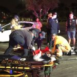Paramedics treat woman injured