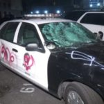 Vandalized police cruiser