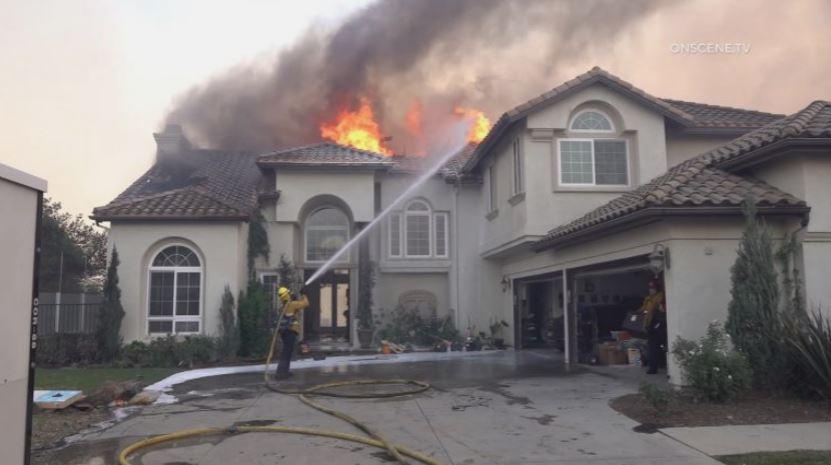 Home burns in Yorba Linda