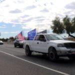 Pickup in Trump caravan