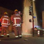 Fatal hydrant crash scene