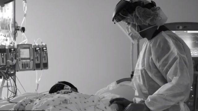 ICU patient and nurse