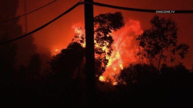 Silverado Canyon fire