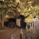 Santa Ana Police cruiser crashes