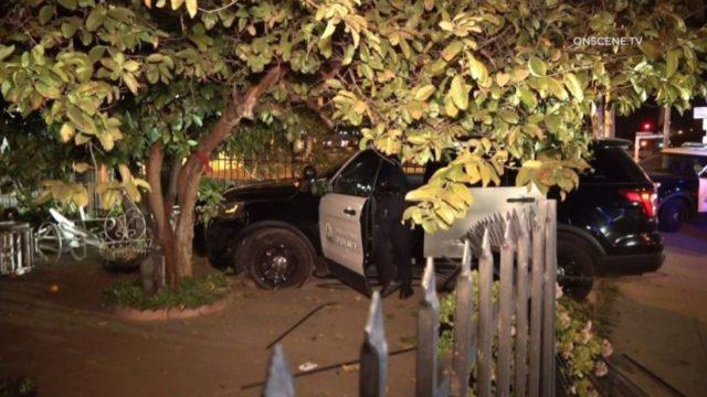 Santa Ana Police cruiser crashes